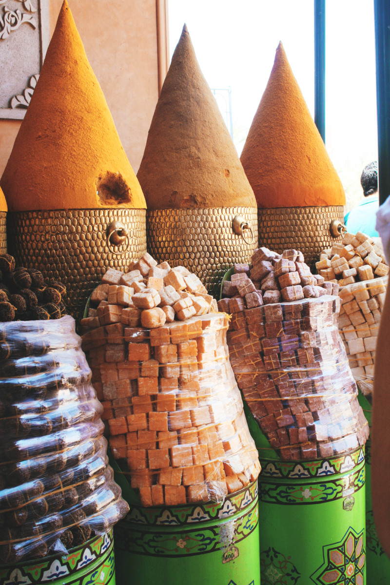 Spices marrakech souk morocco