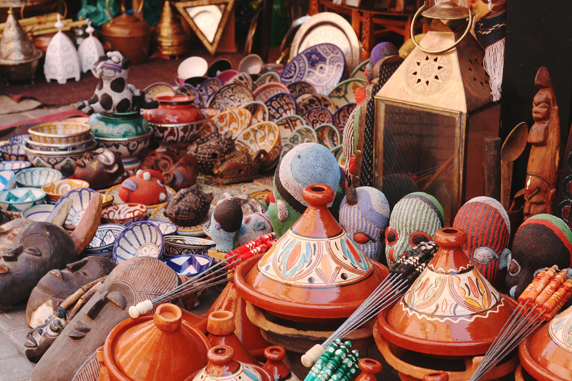 Marrakech Morocco Bazaar
