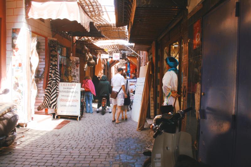 souks marrakech morocco