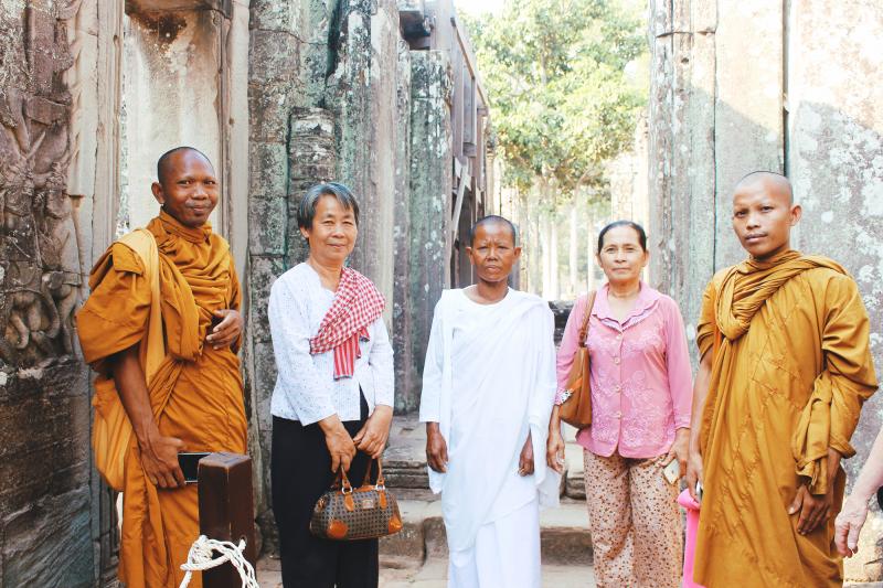 Angkor Wat Cambodia monk
