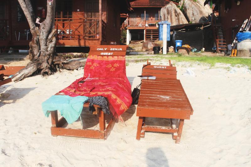 perhentian kecil malaysia beach sunbathing