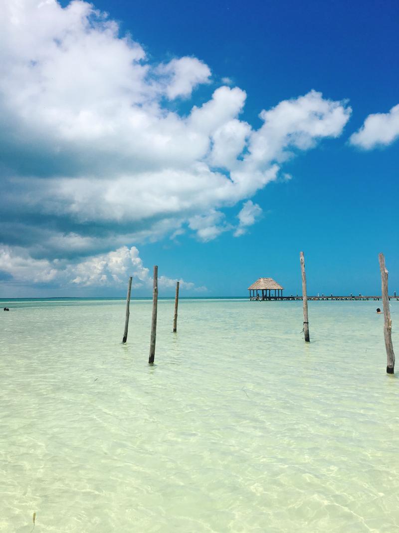 holbox mexico sea caribbean island paradise