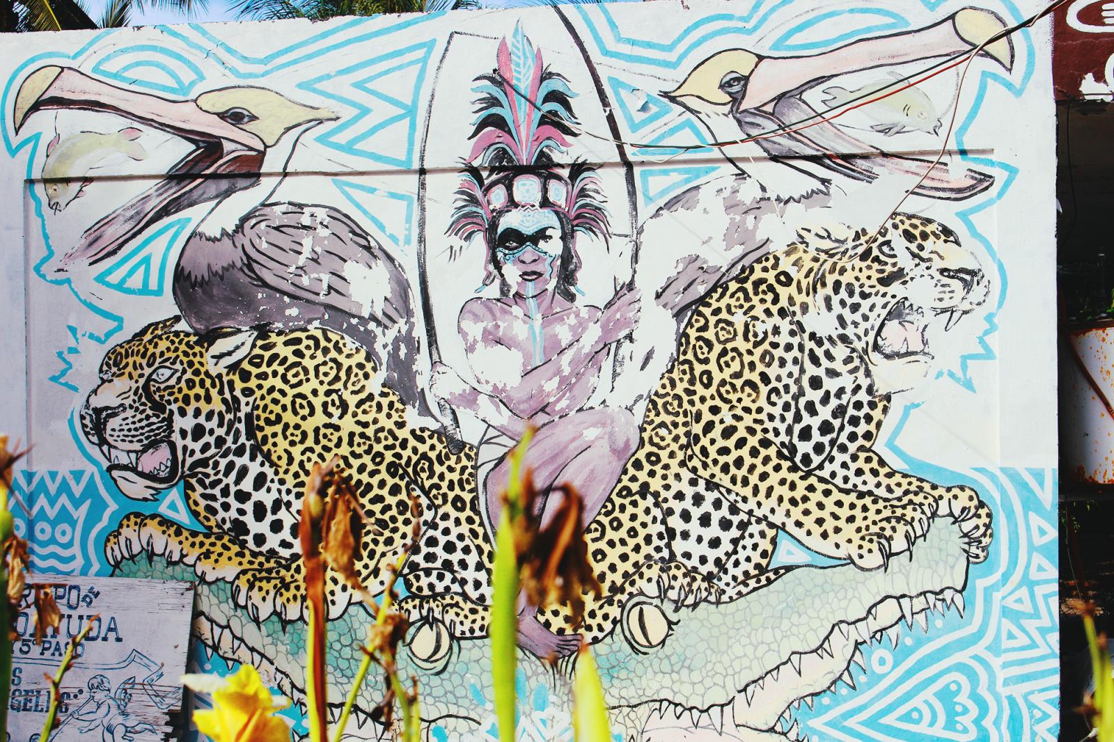 holbox street art mexico beach paradise island