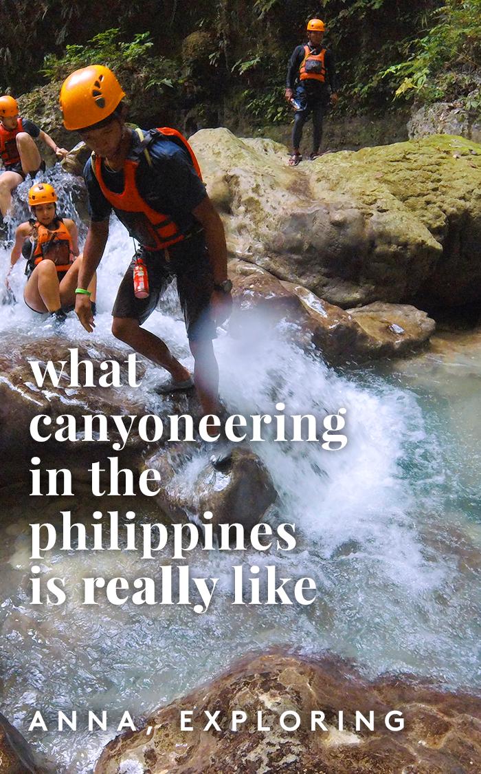 pinterest philippines canyoneering moalboal pin cebu baidan