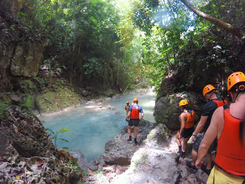 baidan canyoneering moalboal cebu philippines